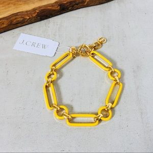 J. CREW Enamel Link Bracelet Yellow